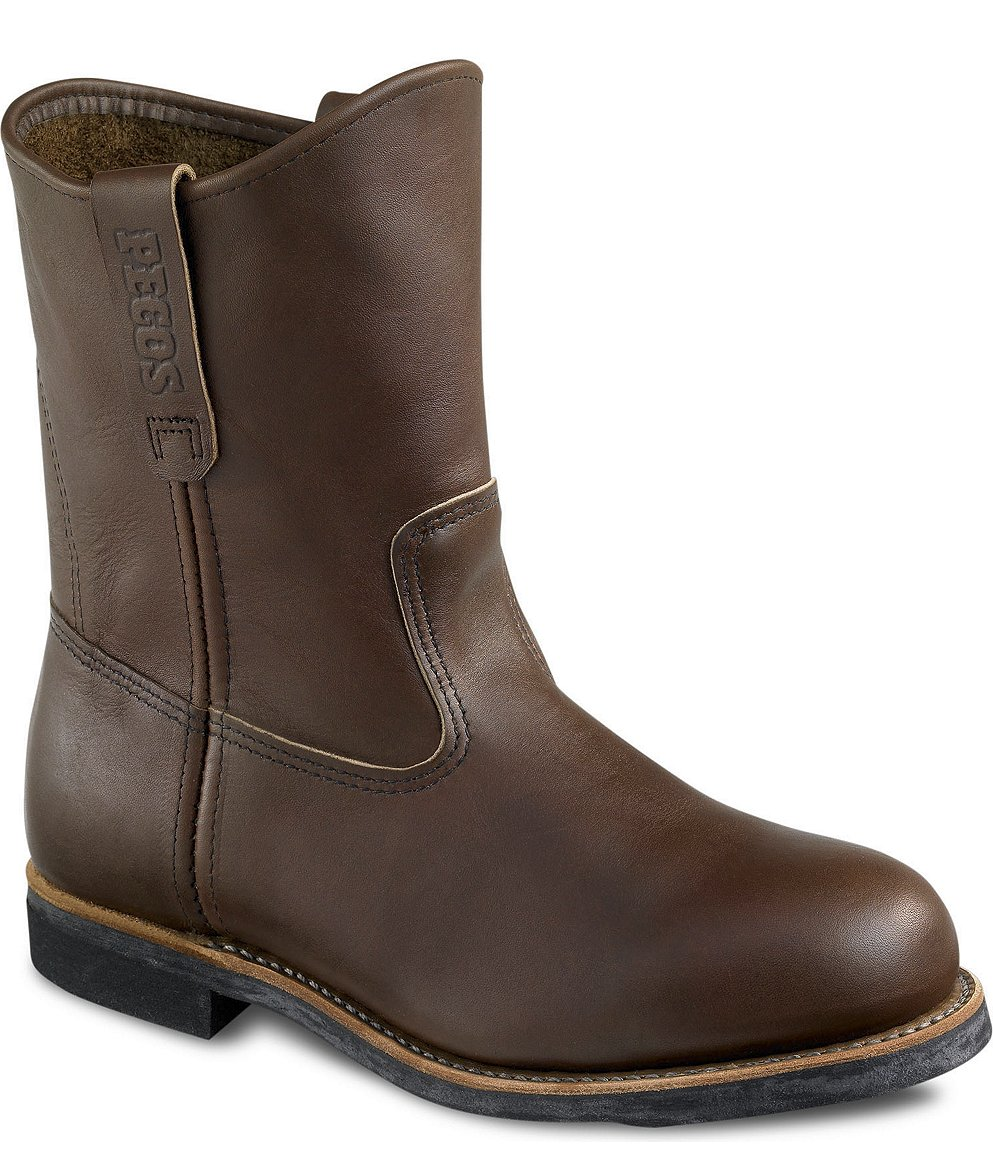 RED WING 966 MENS 9 INCH PULL ON BROWN